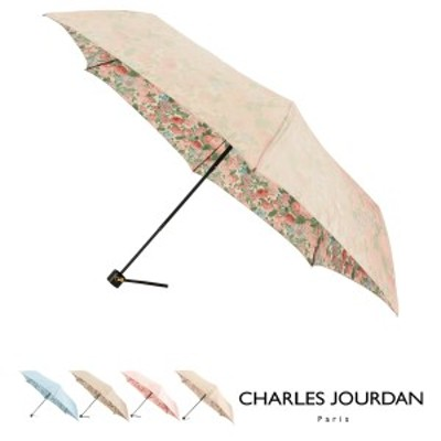 【レビューを書いてポイント+5%】シャルルジョルダン 折りたたみ傘 レディース 17054 CHARLES JOURDAN | 耐風  花柄 フラワー プリント