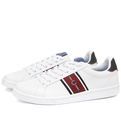 フレッドペリー Fred Perry Authentic メンズ スニーカー シューズ・靴 b721 webbing logo sneaker White/Red