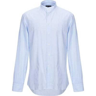 ヘンリースミス HENRY SMITH メンズ シャツ トップス checked shirt Sky blue