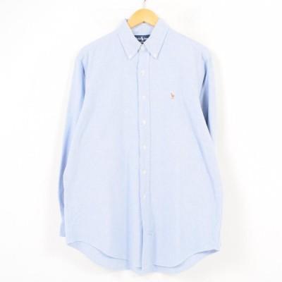 ラルフローレン 長袖 ボタンダウンシャツ メンズL /waw0604