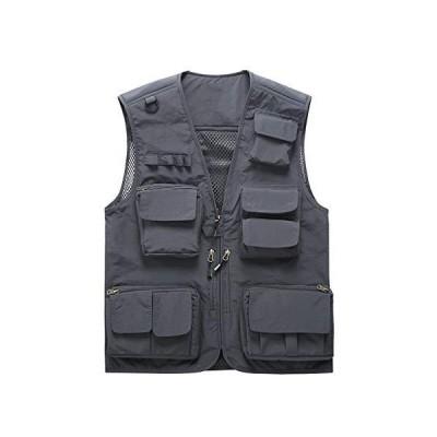 全国送料無料!Waistcoat LITING Vest Men Outdoor Multi-Pocket Tooling Mesh Vest Fishing Photographer Reporter Thin Section Summer Vest