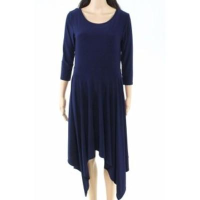 Tahari タハリ ファッション ドレス Tahari by ASL Womens Dress Blue Size 10P Petite Sheath Asymmetrical