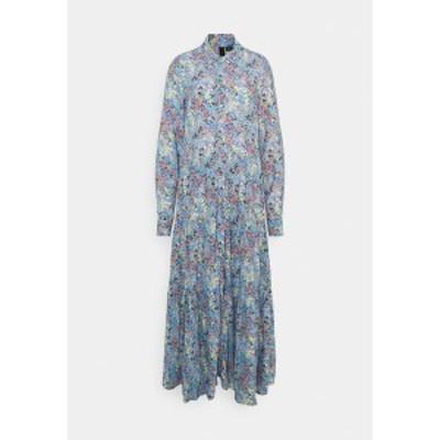 ヤス トール レディース ワンピース トップス YASSANTOS LONG SHIRT DRESS - Maxi dress - dusk blue/santos print dusk blue/santos pri