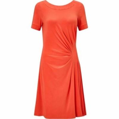 ジュームズ レイクランド James Lakeland レディース ワンピース Vネック ワンピース・ドレス Black V Neck Dress Orange
