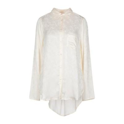 SOUVENIR 無地シャツ&ブラウス  レディースファッション  トップス  シャツ、ブラウス  長袖 アイボリー