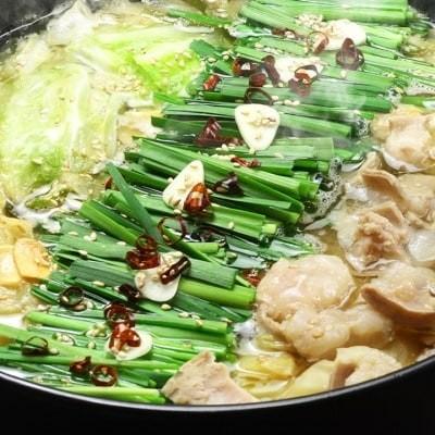 国産牛 ありた鶏 博多もつ鍋&水炊きセット(九州味噌&水炊き 切り身)