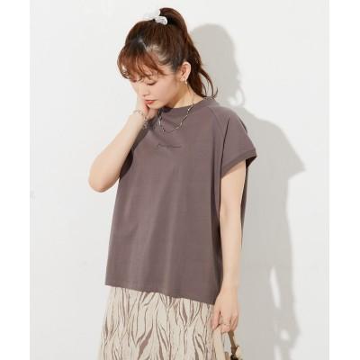 《WEB・一部店舗限定》ラグランミニロゴモックネックTシャツ