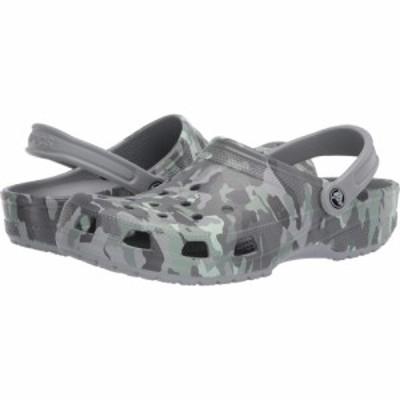クロックス Crocs レディース クロッグ シューズ・靴 Classic Clog - Seasonal Graphic Light Grey/Neo Mint
