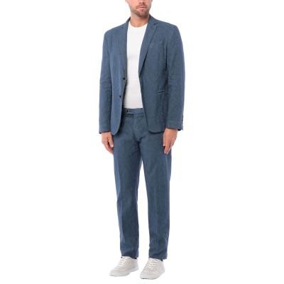 ローダ RODA スーツ ブルーグレー 52 コットン 62% / リネン 38% スーツ