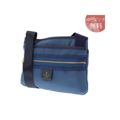 ランバンオンブルー バッグ ショルダーバッグ マエリス 薄マチショルダーバッグ スモーキーブルー LANVIN en Bleu