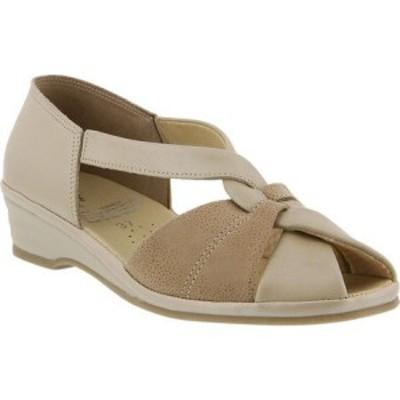 スプリングステップ Spring Step レディース サンダル・ミュール シューズ・靴 Jasna Peep Toe Sandal Beige Leather