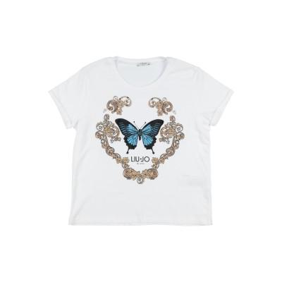 リュー ジョー LIU •JO T シャツ ホワイト 16 コットン 95% / ポリウレタン 5% T シャツ
