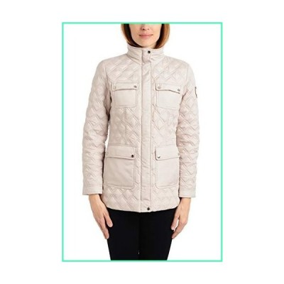 Vince Camuto Women's Patch Pocket Quilted Jacket, Beigest, Medium並行輸入品