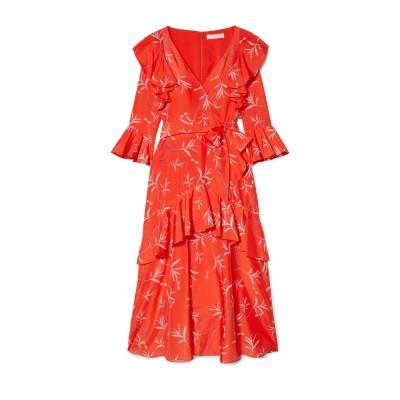 BORGO DE NOR 7分丈ワンピース・ドレス レッド 6 ポリエステル 100% 7分丈ワンピース・ドレス
