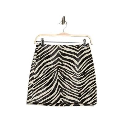 フレーム レディース スカート ボトムス Zebra Print Mini Skirt BLACK MULTI