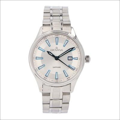 グロバナ GROVANA 腕時計 3194.1132 32mm クォーツ カレンダー メタルベルト
