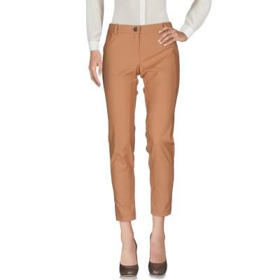 ELISABETTA FRANCHI パンツ キャメル 42 コットン 50% / ナイロン 47% / ポリウレタン 3% パンツ