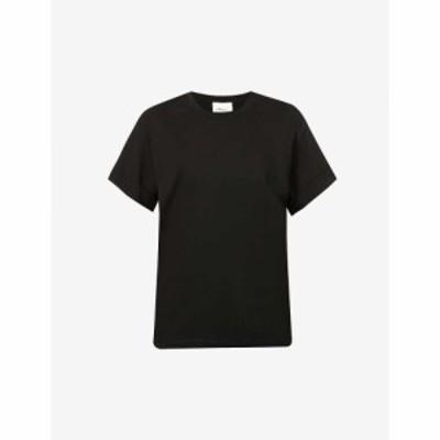 スリーワン フィリップ リム 3.1 PHILLIP LIM レディース Tシャツ トップス Scoop-neck cotton-jersey T-shirt BLACK