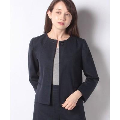 Leilian / 【セットアップ対象商品】麻混ノーカラージャケット