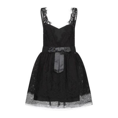 レリッシュ RELISH ミニワンピース&ドレス ブラック S コットン 65% / ナイロン 35% / ポリエステル ミニワンピース&ドレス