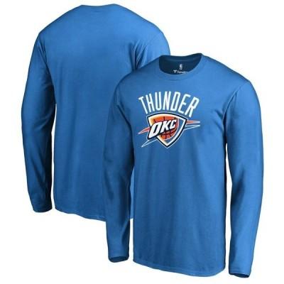 ファナティクス ブランデッド メンズ Tシャツ トップス Oklahoma City Thunder Fanatics Branded Primary Logo Long Sleeve T-Shirt