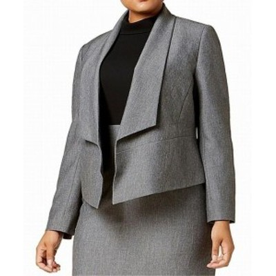 Nine West ナインウエスト ファッション 衣類 Nine West NEW Gray Greystone Womens Size 20W Plus Fly-Away Jacket