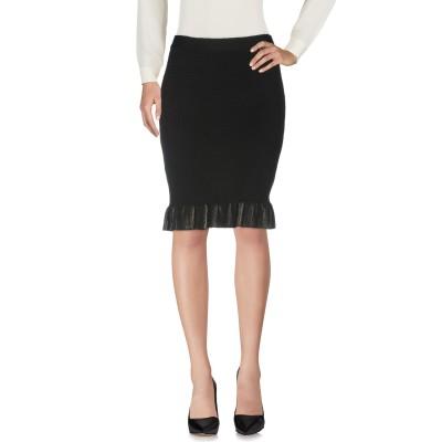 CRISTINAEFFE ひざ丈スカート ブラック 42 ウール 50% / アクリル 50% ひざ丈スカート