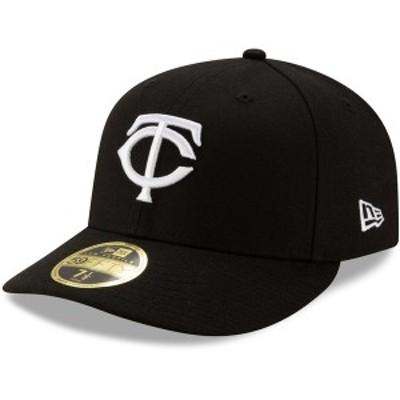 ニューエラ メンズ 帽子 アクセサリー Minnesota Twins New Era Team Low Profile 59FIFTY Fitted Hat Black