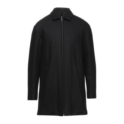 イーヴォ HEVÒ コート ブラック 52 バージンウール 63% / ナイロン 30% / カシミヤ 5% / 指定外繊維(その他伸縮性繊維) 2