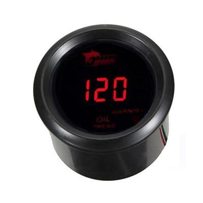 ELEAR? 車 2 52mm デジタル オイル プレス 圧力計 ブルーLED