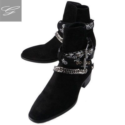 SALE AMIRI/アミリ シューズ メンズ TONAL BANDANA BUCKLE BOOT ショートブーツ BLACK F0F20347SU-0003-0002