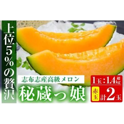 b5-036 【春限定】極上メロン「秘蔵っ娘」赤玉(赤肉)2個