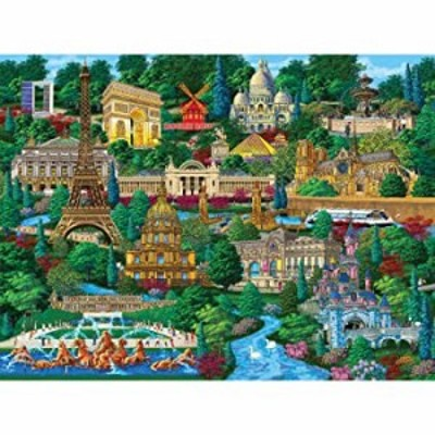 Bits and Pieces???300大きいピースジグソーパズルfor Adults???Paris City View???300?pcフランスJigsaw by Artist Joseph Burgess