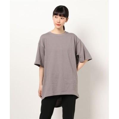 tシャツ Tシャツ 裾タックチュニックTee