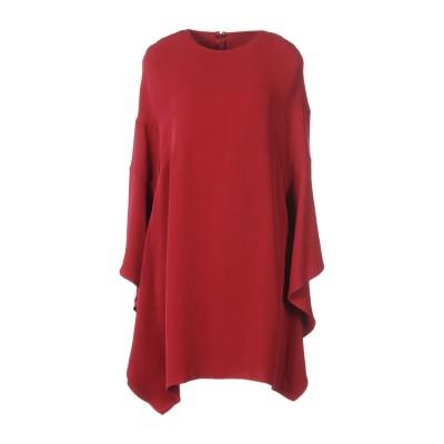 ヴァレンティノ VALENTINO ミニワンピース&ドレス ガーネット 44 シルク 91% / ポリウレタン 9% ミニワンピース&ドレス