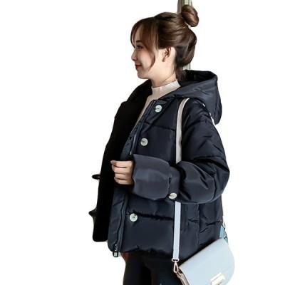 コート  韓國 中綿コート ジャケット  細身  フード付き レディース シルエット 防寒 カジュアル