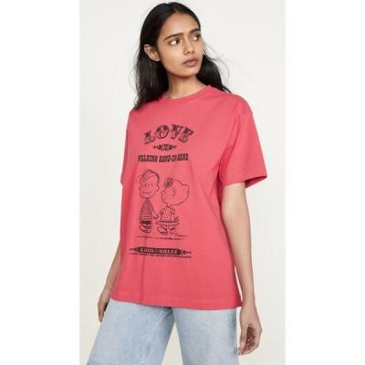 マーク ジェイコブス The Marc Jacobs レディース Tシャツ トップス x Peanuts Love T-Shirt Red