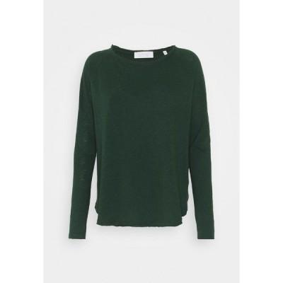 リッチ アンド ロイヤル カットソー レディース トップス Long sleeved top - emerald green