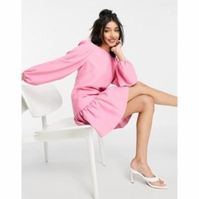 フォーエバーニュー Forever New レディース ワンピース ミニ丈 ワンピース・ドレス structured frill hem balloon sleeve mini dress in