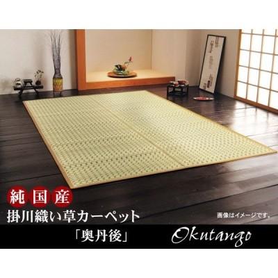 純国産 掛川織 い草カーペット 『奥丹後』 江戸間2畳(約174×174cm)
