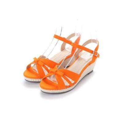 SFW リバティードール Liberty Doll シルエットと履き心地を追求したウエッジヒールストラップ美脚サンダル/5551 (オレンジ)