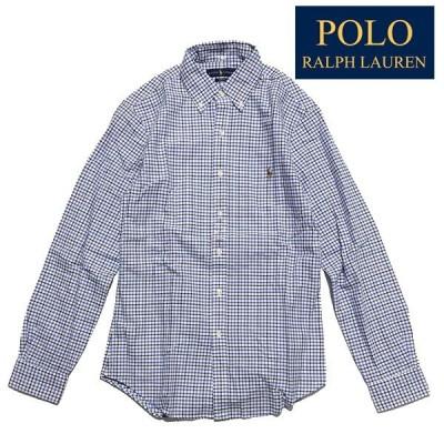 ラルフローレン POLO RALPH LAUREN  ボタンダウンシャツ スリムフィット【6732599940-navy】