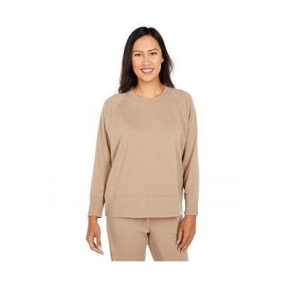 Eileen Fisher アイリーンフィッシャー レディース 女性用 ファッション Tシャツ Petite Organic Cotton Stretch Jersey Round Neck Top - Driftwood