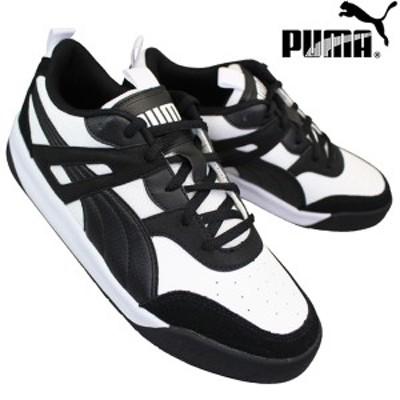 プーマ PUMA 373027 03 バックコート ホワイト/ブラック BACKCOURT メンズ ローカットスニーカー カジュアルシューズ 運動靴 紐靴