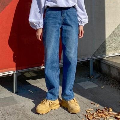 VANILLAMILK レディース ジーンズ Chou shu straight wide denim pants