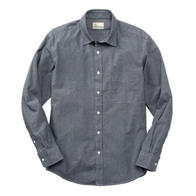 CANTERBURY WOOD(カンタベリーウッド) 綿100%ヒッコリー長袖シャツ カジュアルシャツ, Shirts,