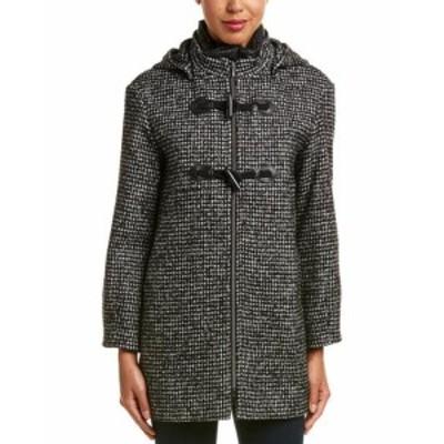 ファッション 衣類 Cinzia Rocca Icons Wool-Blend Coat 6 Black