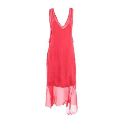 ALEX VIDAL 7分丈ワンピース・ドレス コーラル 38 シルク 100% 7分丈ワンピース・ドレス