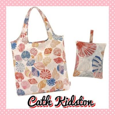 Cath Kidston キャスキッドソン 貝殻 折りたたみ トートバッグ エコバッグ 白系 レディース