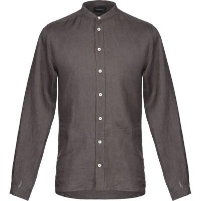 ガッザリーニ GAZZARRINI メンズ シャツ トップス linen shirt Dark brown